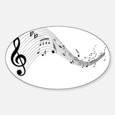 Mixed Musical Notes (black) Decal