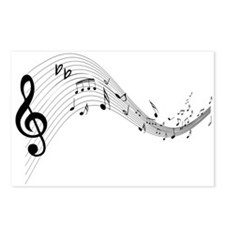 Mixed Musical Notes (black) Postcards (Package of