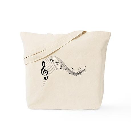 Mixed Musical Notes (black) Tote Bag