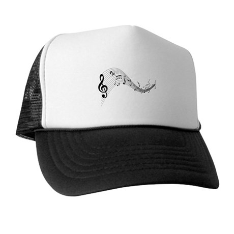 Mixed Musical Notes (black) Trucker Hat