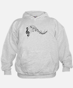 Mixed Musical Notes (black) Hoodie