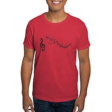 Mixed Musical Notes (black) T-Shirt