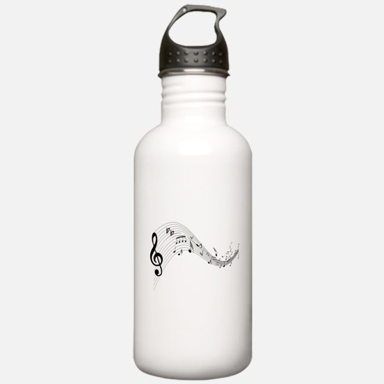 Mixed Musical Notes (black) Water Bottle