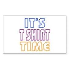 T Shirt Time Decal