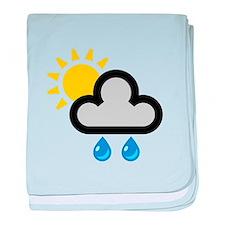 Rain Showers Symbol baby blanket