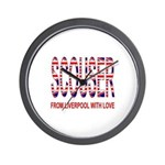 Scouser from Liverpool with Love Wall Clock