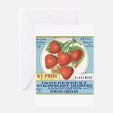 Fruit crate label art Greeting Card