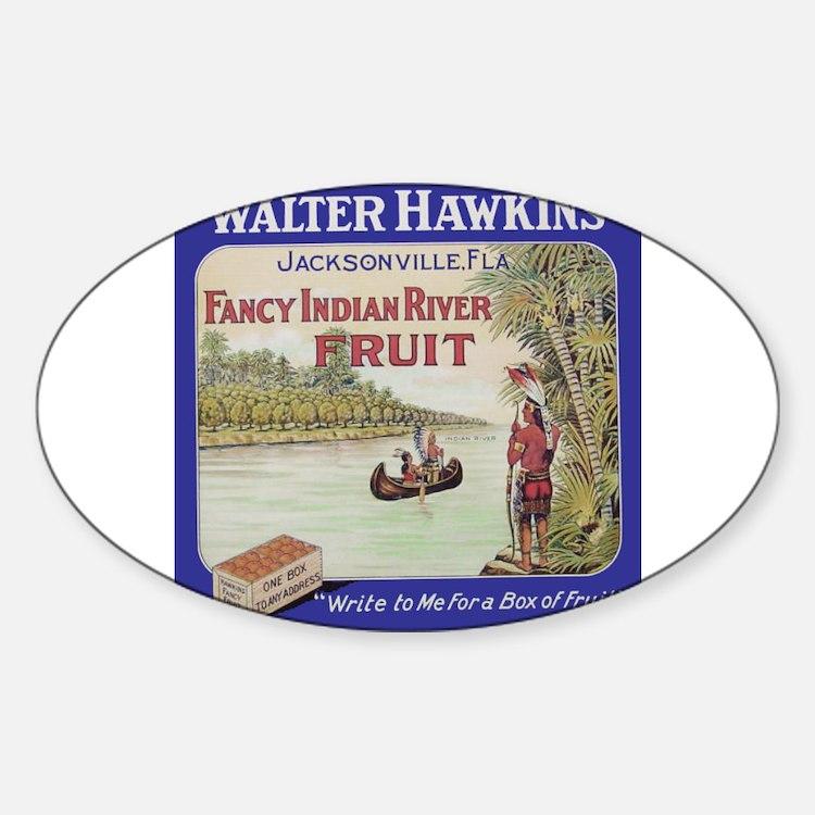 Cute Fruit crate Sticker (Oval)