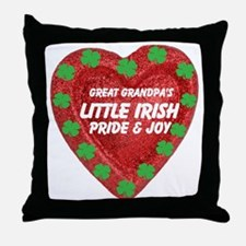 Irish Pride & Joy/Great Grandpa Throw Pillow