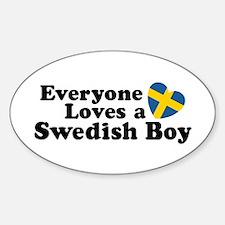 Everyone Loves a Swedish Boy Oval Decal