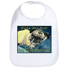 Pugaboo Pugs Are Soft Bib