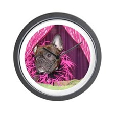 Diva Frenchie Wall Clock