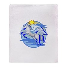 Pegasus Winged Horse Throw Blanket