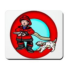 Boy Fireman Mousepad