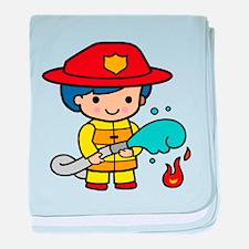 Girl Firefighter baby blanket