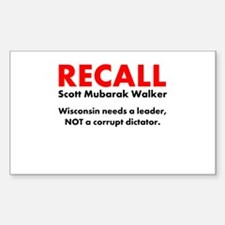 Recall Scott Mubarak Walker Decal