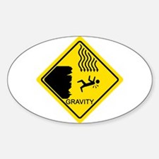 Sheldon's Gravity Joke Sticker (Oval)