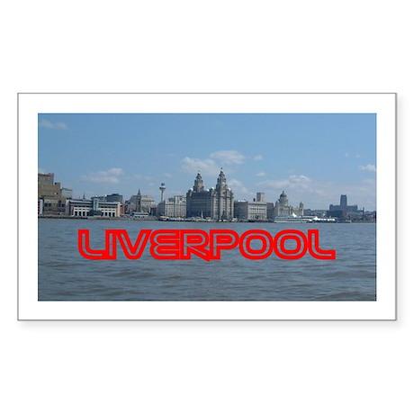 Scenic Liverpool LFC Red Sticker (Rect.)
