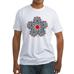 Star Design Fitted T-Shirt