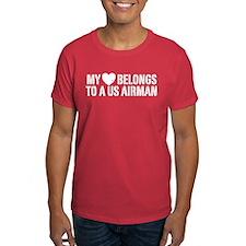 My Heart Belongs To A US Airman T-Shirt