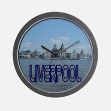 Scenic Liverpool (Blue) Wall Clock