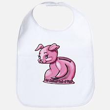 Cute Piggy Bank Pig Bib