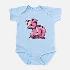 Cute Piggy Bank Pig Infant Bodysuit