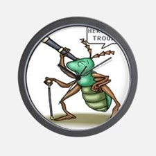 Here Comes Trouble Insect Wall Clock