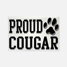 Proud Cougar Rectangle Magnet