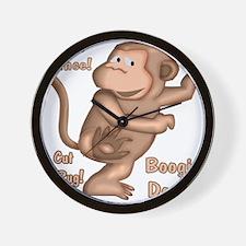 Dancing Monkey Wall Clock
