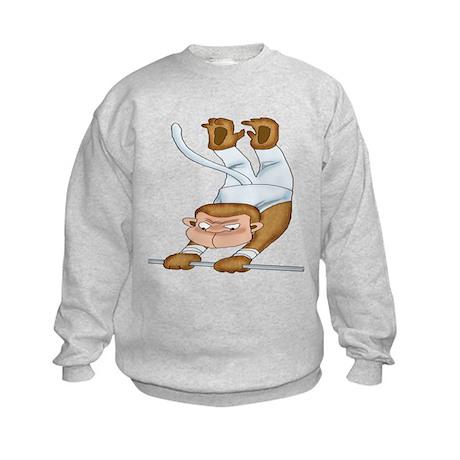 Monkey Gymnist Kids Sweatshirt