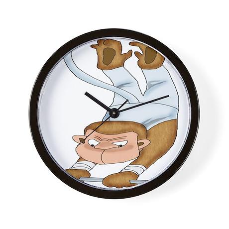 Monkey Gymnist Wall Clock