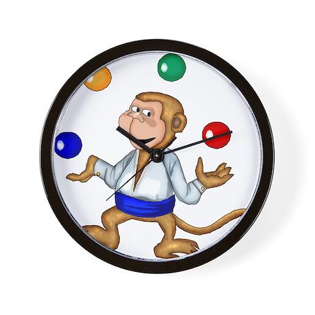 Juggling Monkey Wall Clock