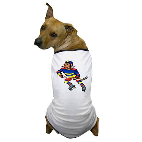 Monkey Hockey Player Dog T-Shirt