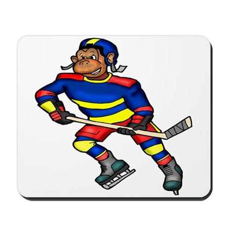 Monkey Hockey Player Mousepad