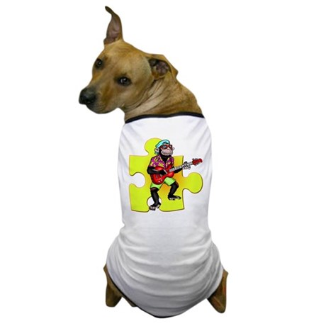 Rock and Roll Monkey Dog T-Shirt