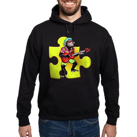 Rock and Roll Monkey Hoodie (dark)