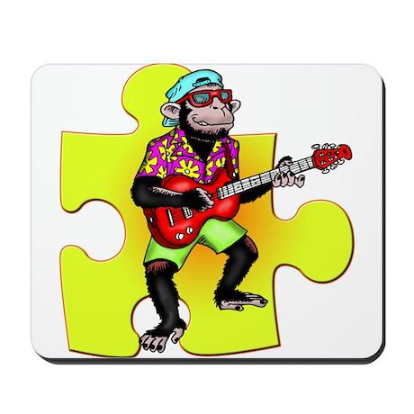 Rock and Roll Monkey Mousepad