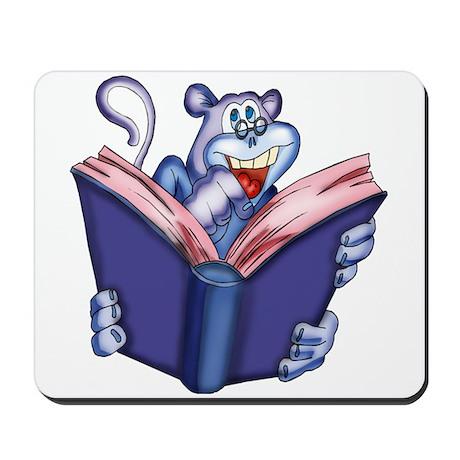 Book Reading Monkey Mousepad