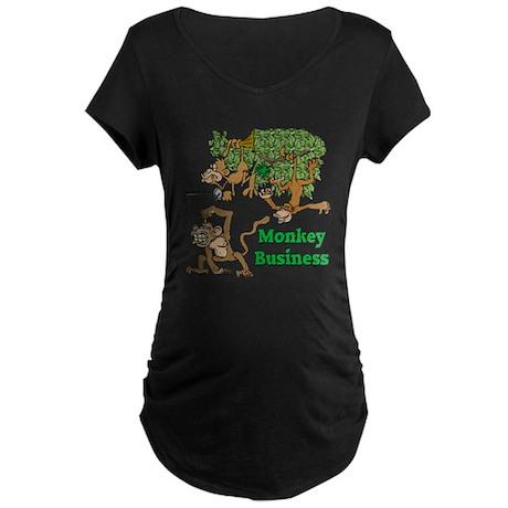 Monkey Business Maternity Dark T-Shirt