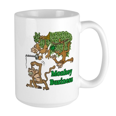Monkey Business Large Mug