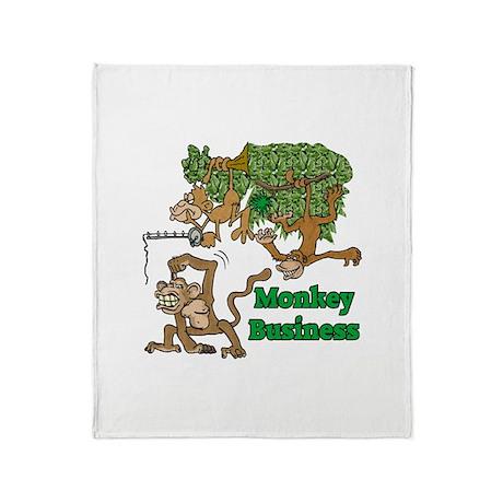 Monkey Business Throw Blanket