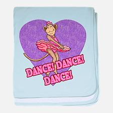 Monkey Ballerina baby blanket