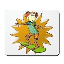 Skateboard Monkey Mousepad