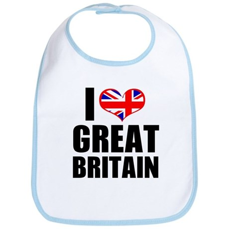 I Heart Great Britain Bib
