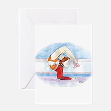 Cute Rhythmic gymnastics Greeting Card