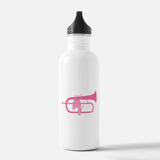 Flugelhorn Silhouette Sports Water Bottle