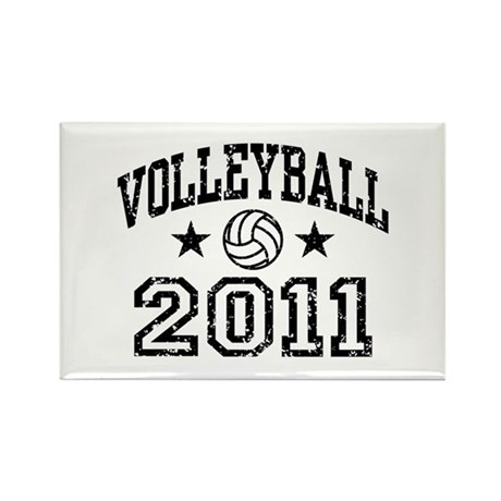 Volleyball 2011 Rectangle Magnet