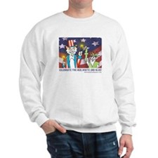 Cute 4th of july cat Sweatshirt
