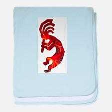 Fire Red Kokopelli baby blanket
